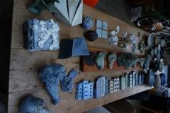 tafel met keramiek
